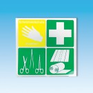 Block-Piktogramm Erste-Hilfe